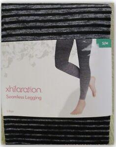 c5cc316c326fd Image is loading Xhilaration-Seamless-Leggings-marled-grey-stripe-543073-S-M -