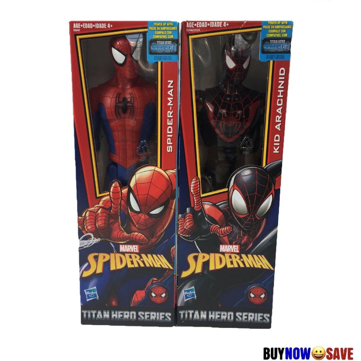 NEW Marvel Spiderman and Kid Arachnid Titan Hero Series 12in Figure