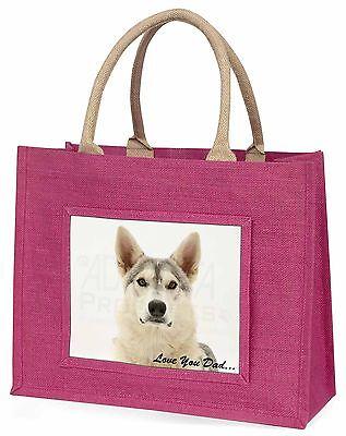 Utonagan Hund 'Liebe dich Papa' Große Rosa Einkaufstasche Weihnachtsgeschenk,