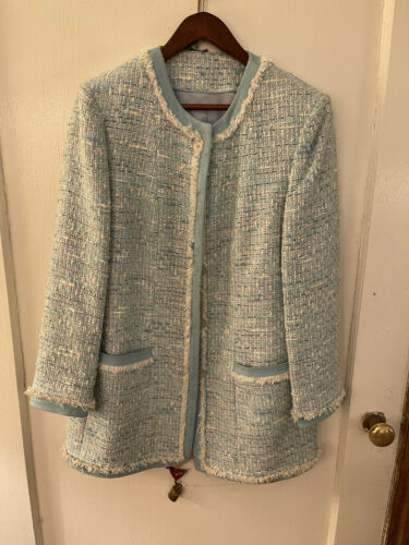 MOST WANTED  Tourquoise TWEED JACKET Medium and p