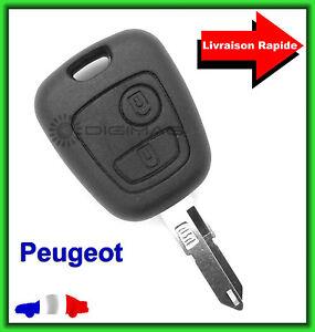 Coque-Telecommande-Plip-Bouton-Cle-Pour-Peugeot-106-206-306-Lame-vierge