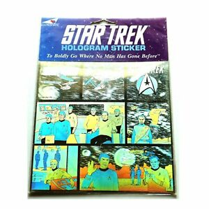 Star-Trek-Original-Series-Large-Hologram-3D-Sticker-made-in-England-1991