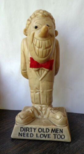 r&w berries co. figurine statue 1970 Dirty Old Men Need Love Too Retro Novelty