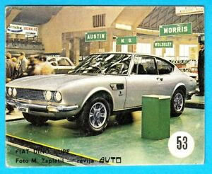 FIAT-DINO-COUPE-Yugoslav-vintage-card-Used-in-a-album-RRRR