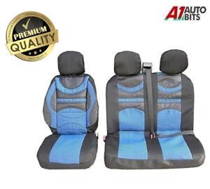 UNIVERSALE Coprisedili auto blu per Iveco Daily Bus 1+2 FRONT CAMPER Coprisedili