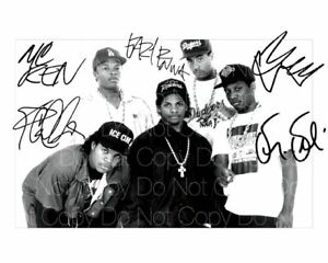 Nwa-Firmado-Eazy-E-Hielo-Cubo-Dr-Dre-8X10-Foto-Imagen-Poster-Autografo
