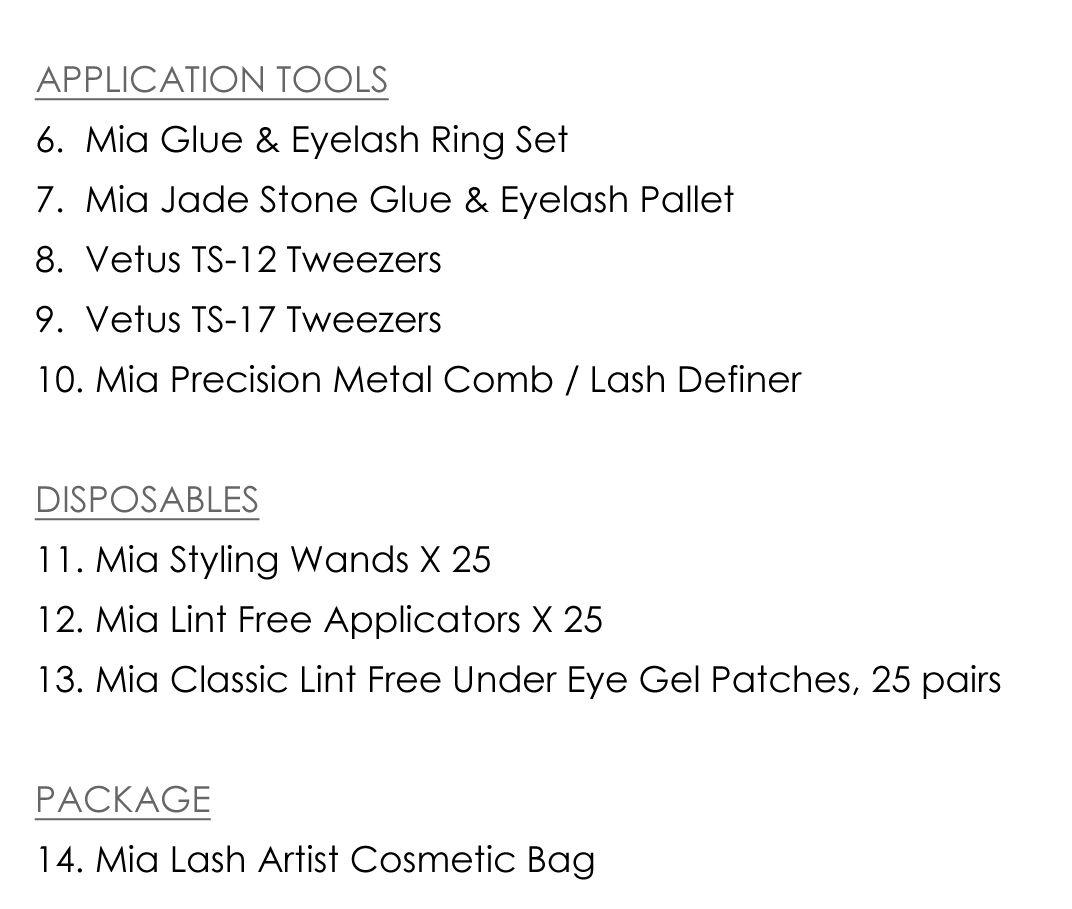 Professional Lash Kit for Eyelash Extension Artist Semi Permanent Beauty Salon 11
