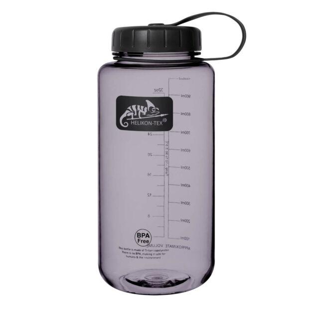 TRITAN Trinkflasche mit Weit-Hals Öffnung, 1 Liter, Smoke / Helikon-Tex