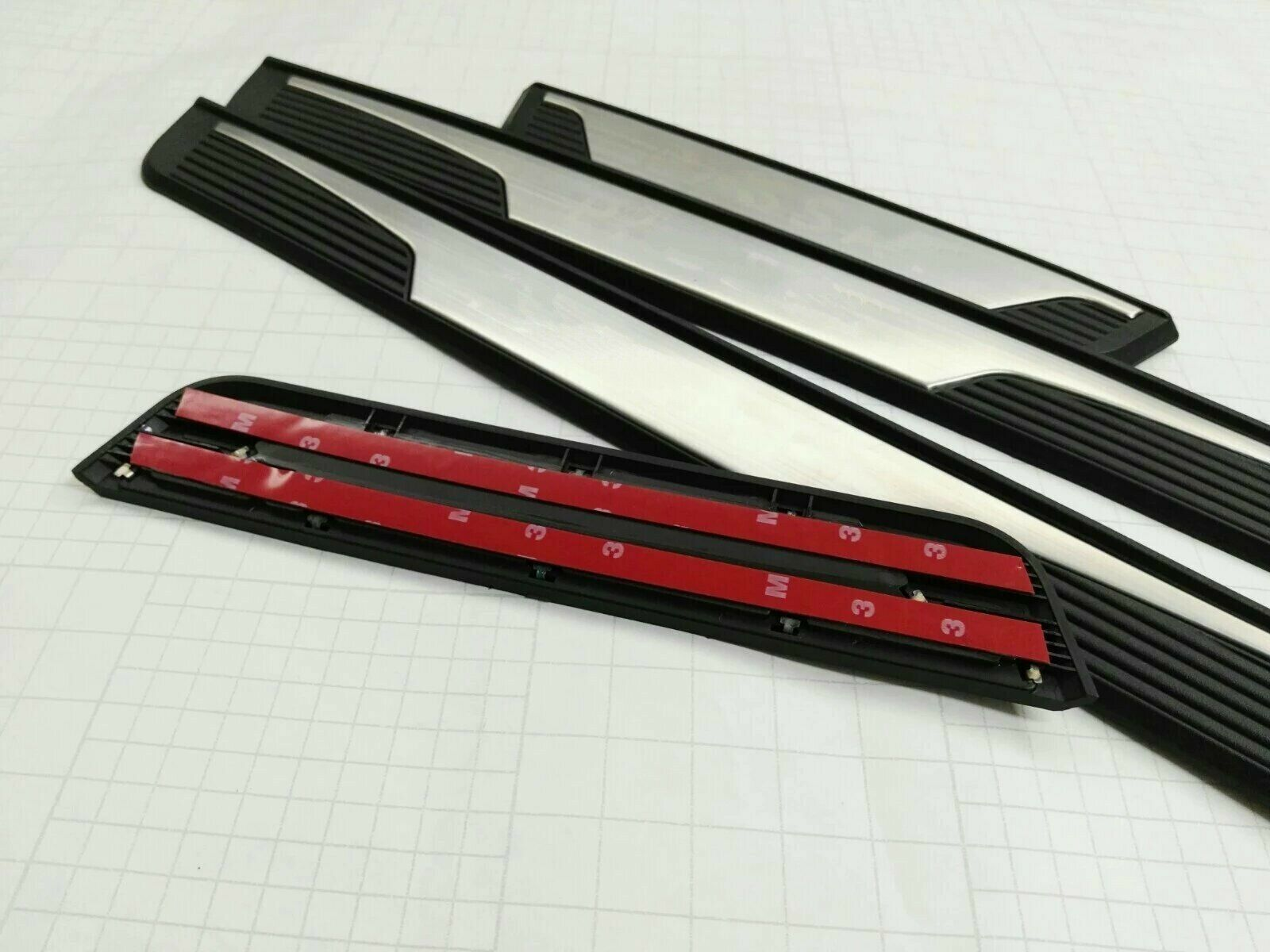 for VW Volkswagen Passat Car Accessories Car Door Sill Scuff Plate Door Step Protectors Carbon Fiber Vinyl Sticker Auto Parts 4pcs