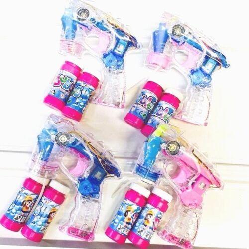 4 xseifenblasenpistole avec DEL bulles de savon poisson Bubble Gun Batterie gratuit Top