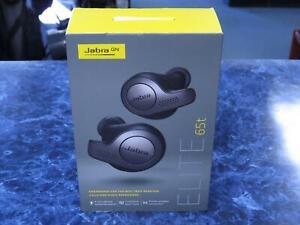 Jabra True Wireless Earbuds Factory Sealed Elite 65t Titanium Black Brand New Ebay