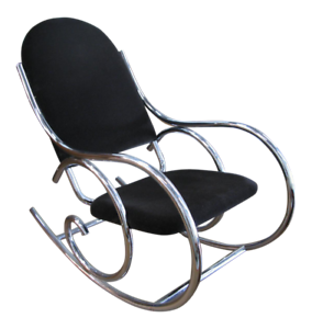 1970s-Mid-Century-Modern-Curvaceous-Upholstered-Chrome-Rocking-Chair