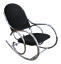 1970s-Mid-Century-Modern-Curvaceous-Upholstered-Chrome-Rocking-Chair thumbnail 1