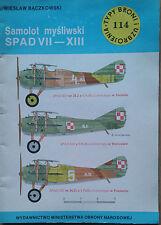 Buch / Book: Typy Broni i Uzbrojenia 114/1987 Samolot Mysliwski SPAD VII-XIII