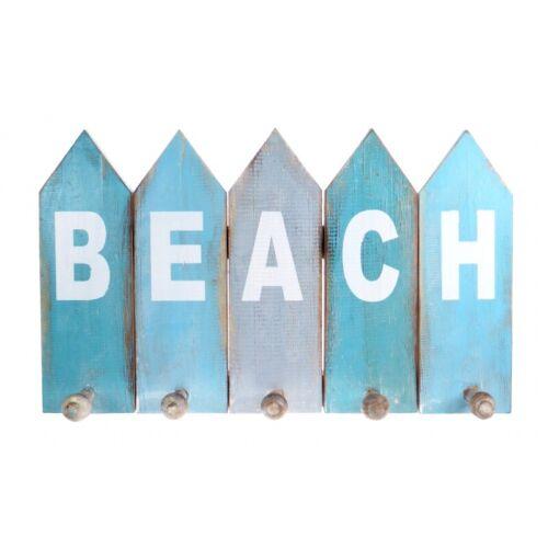 Rustic Beach Coat Hooks Storage Hangers Nautical Blue Clothes Towel Racks Hook