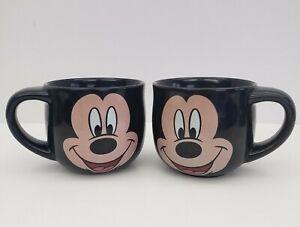 Mickey-Mouse-Face-Mugs-Black-Disney-Set-of-2