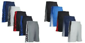Mens Casual Mesh Shorts Basketball Sports Two Tone Gym Pants Workout Summer S-2X