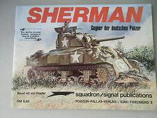 Waffen-Arsenal 45 mit Poster Sherman Gegner der deutschen Panzer