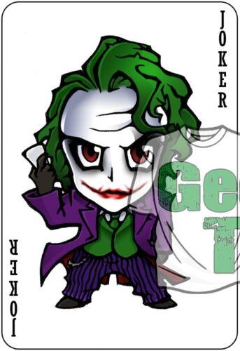 El Guasón Hierro en camiseta de transferencia de calor Hazlo tú mismo suicidio escuadrón Batman de gastos de envío gratis