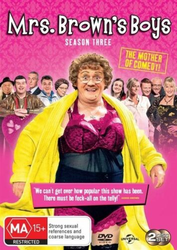 1 of 1 - Mrs. Brown's Boys : Series 3 ( 2-Disc Set) - DVDS LIKE NEW FREE POST AUS R4