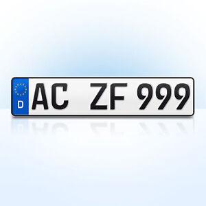 1 st ck eu kfz nummernschild kennzeichen autoschilder. Black Bedroom Furniture Sets. Home Design Ideas