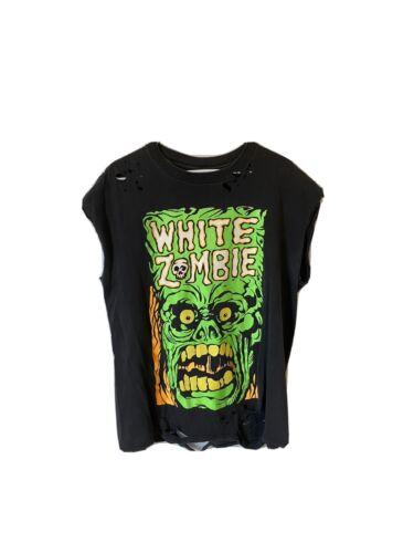 Vintage 90s White Zombie Rob Zombie Shirt Tupac Ma