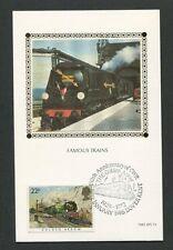 GB UK MK 1985 FAMOUS TRAINS EISENBAHN RAILWAY TRAIN MAXIMUM CARD MC CM d8242