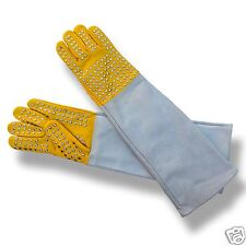 ARD CHAMPS™ Snake Catcher Gloves Heavy Duty Reptile Lizards Leather GlovesYellow