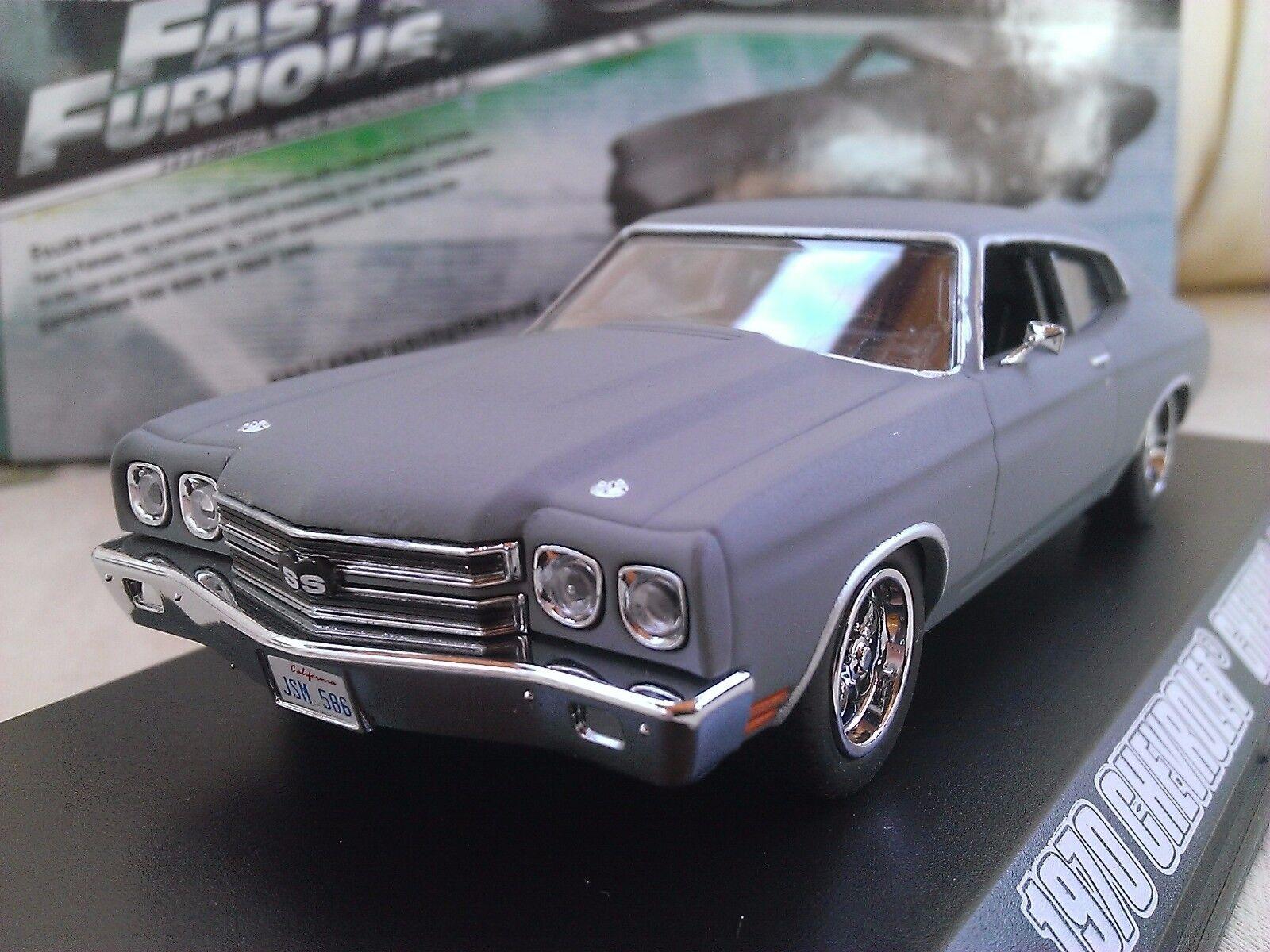 Fast and Furious De Dom 1970 Chevrolet Chevelle SS Voiture Miniature 1 43
