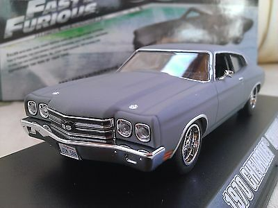 1970 CHEVROLET Chevelle SS Dom Fast /& Furious 1:43 Greenlight 86227 Chevy and