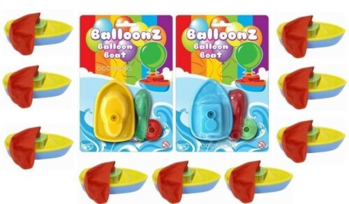 Assorted Colours Balloon Boat Toy Bath Water Party Bag Filler Loot Gift Pool Fun