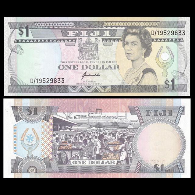 Fiji 1 Dollar, ND(1993), P-89, UNC