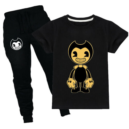 bendy and the ink machine cartoon short sleeve T-shirt boy summer suit