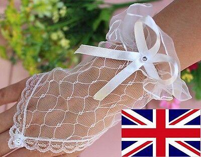 Il Design Elegante In Pizzo Sexy Nv L Donna Festa Matrimonio Prom Palla Corta Senza Dita Guanti Da Sposa-