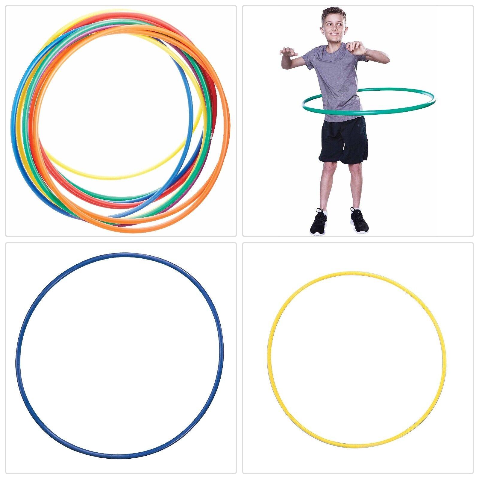 24  STANDARD SIZE COLORFUL HULA HOOPS Set Kids Fun Activity Multi Use Hop Rings