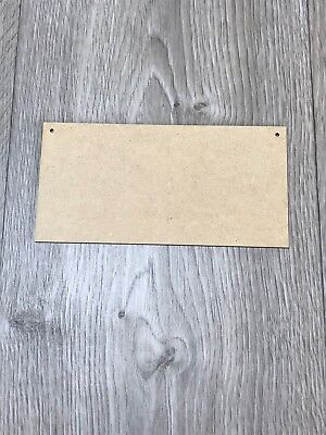 20cm x 10cm Wooden 3mm MDF Blank Plaque for Crafts Baby Feet Cutout