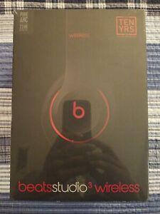 Beats Studio3 Wireless Over Ear Headphones Decade Defiant Black Red Brand New Ebay