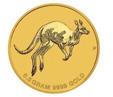2017 Australia Mini Roo $2 0.5 Gram .9999 Pure Gold Proof coin in card Kangaroo