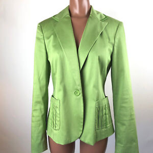 INC-International-Concepts-Womens-Green-Lined-Jacket-Blazer-Medium