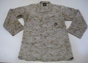 USMC Small Regular US MARINES DESERT MARPAT BLOUSE Camo Top Genuine