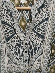 Witchery-Silk-Cotton-Blouse-Shirt-Long-Sleeve-Size-6