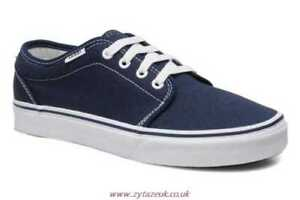 Image is loading Vans-106-Vulcanized-Navy-Blue-White-Mens-Womens- 223066e58