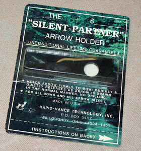 """SILENT-PARTNER"" ARROW HOLDER for HUNTING-RECURVE-LONGBOW-COMPOUND ARCHERY BOWS Kf9YhOTu-07165532-530314163"
