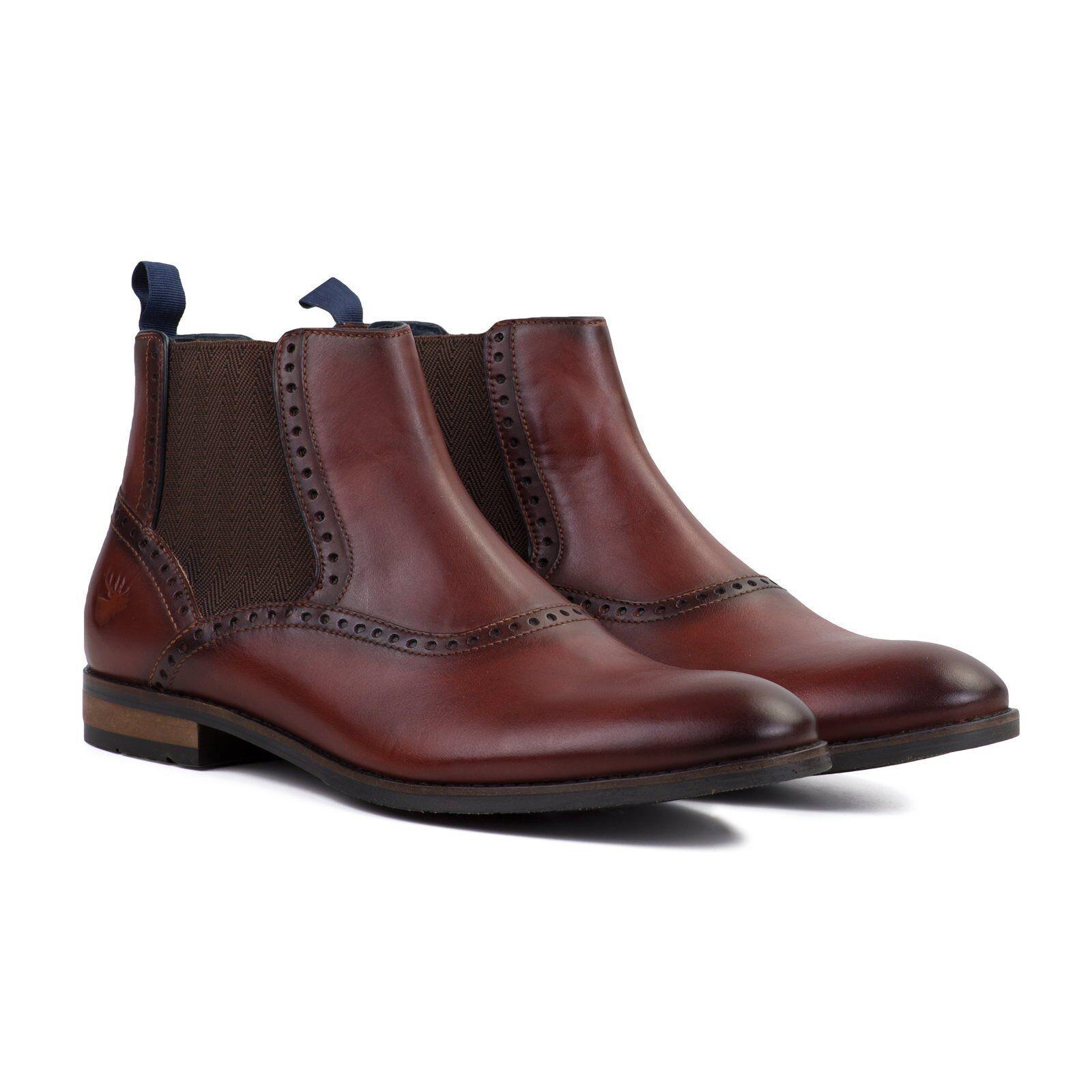 Goodwin Smith Bailey Mahogony Leather Chelsea Boots Size 8