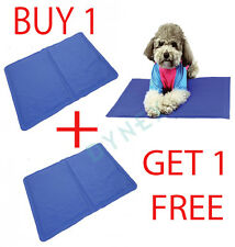 2x Pet Dog Cat Cool Mat Self Cooling Gel Pad Bed Mattress Heat Relief Non-Toxic