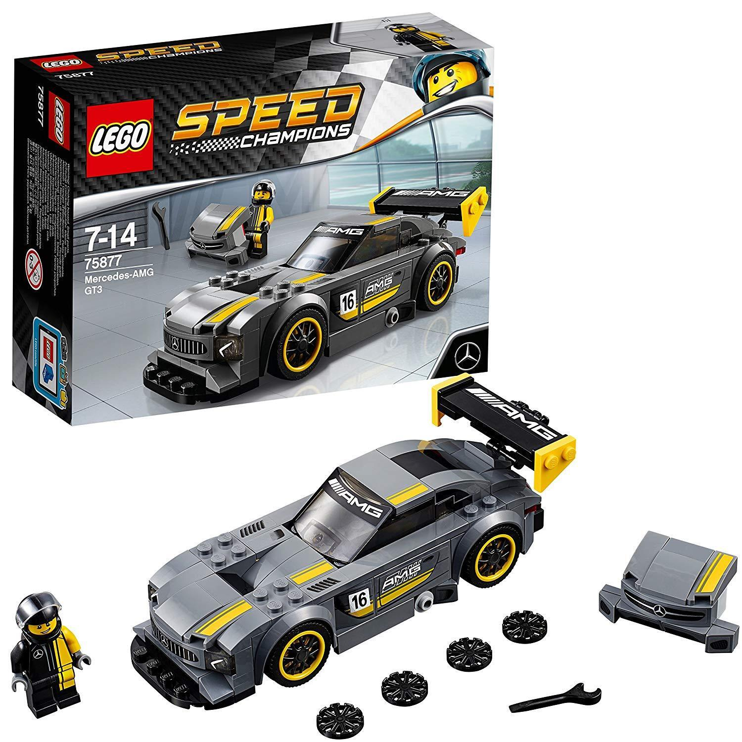 LEGO 75877 Mercedes AMG GT3 Car Driver Minifigure Toy Kid Present Fun Race