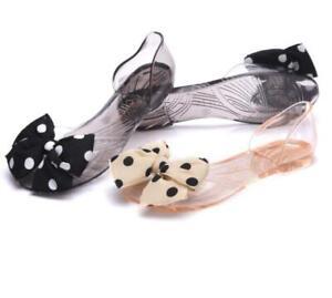 Womens-Flat-Summer-Beach-Sandals-Casual-Slippers-Shoes-Polka-Dot-Sandals-Slip-on