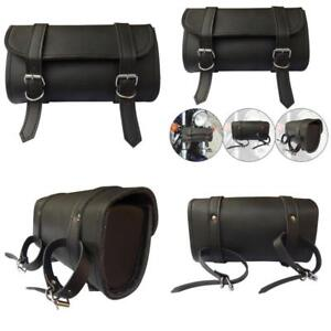 Image Is Loading Motorcycle Leather Handlebar Bag Fork Tool Pouch Harley