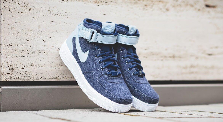 Nike Air Force 1 '07 Mid LTHR PRM 857666-400 Women's Athletic shoes SIZE 7.5