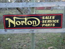 1950's-60's Norton Motorcycle dealer sign 1'x4' Vintage Style, 040 BEST ON EBAY!